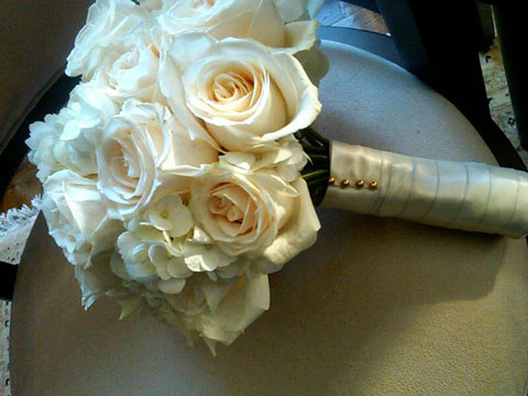 White And Cream Wedding Bouquet Celebrate Blog